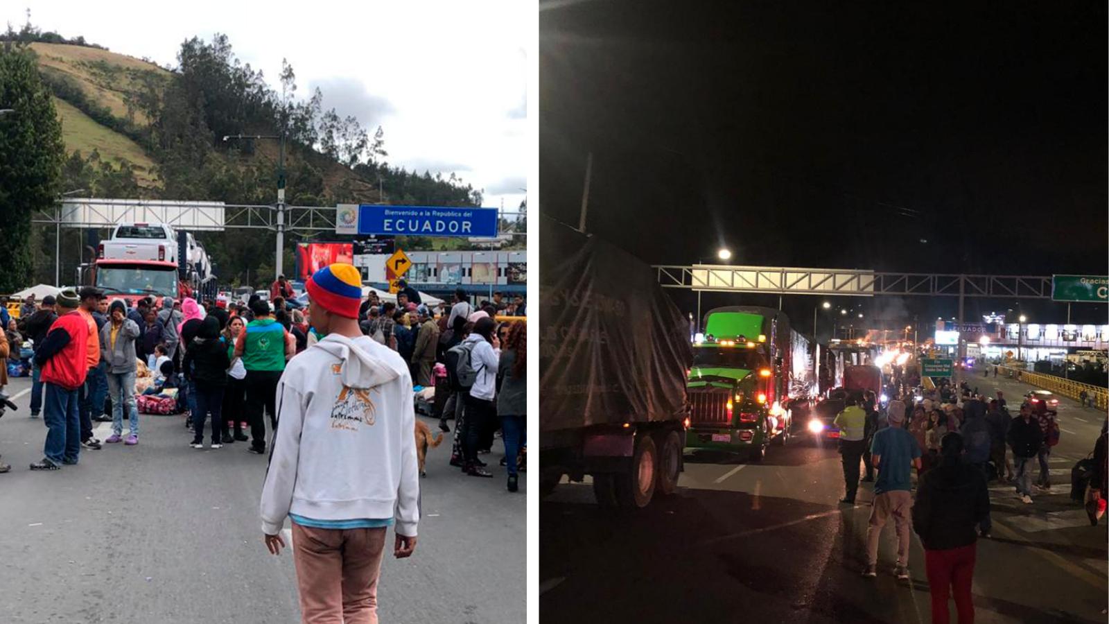 Tras horas de bloqueo, migrantes venezolanos despejaron el puente de Rumichaca