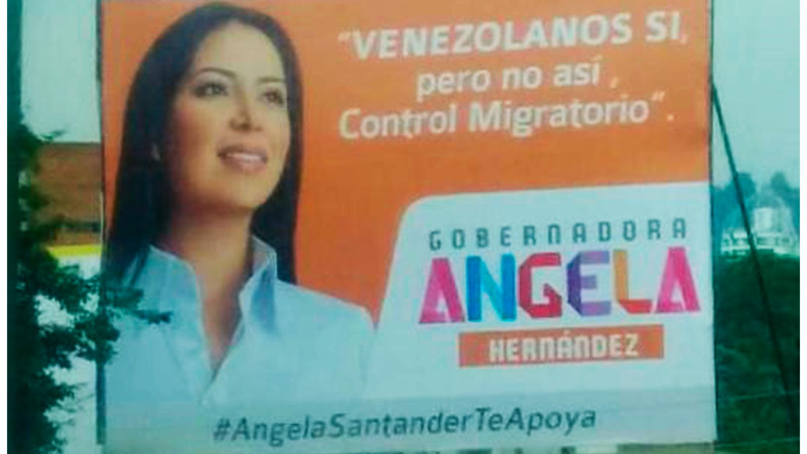 ¿Xenofobia en campaña?: las polémicas vallas de Ángela Hernández en Bucaramanga