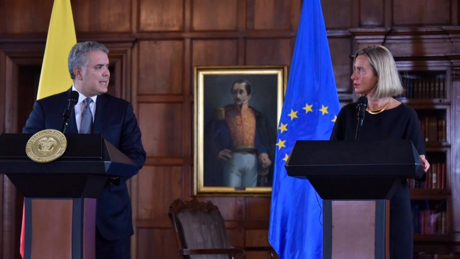 Unión Europea anuncia ayudas a Colombia para paz y migración venezolana