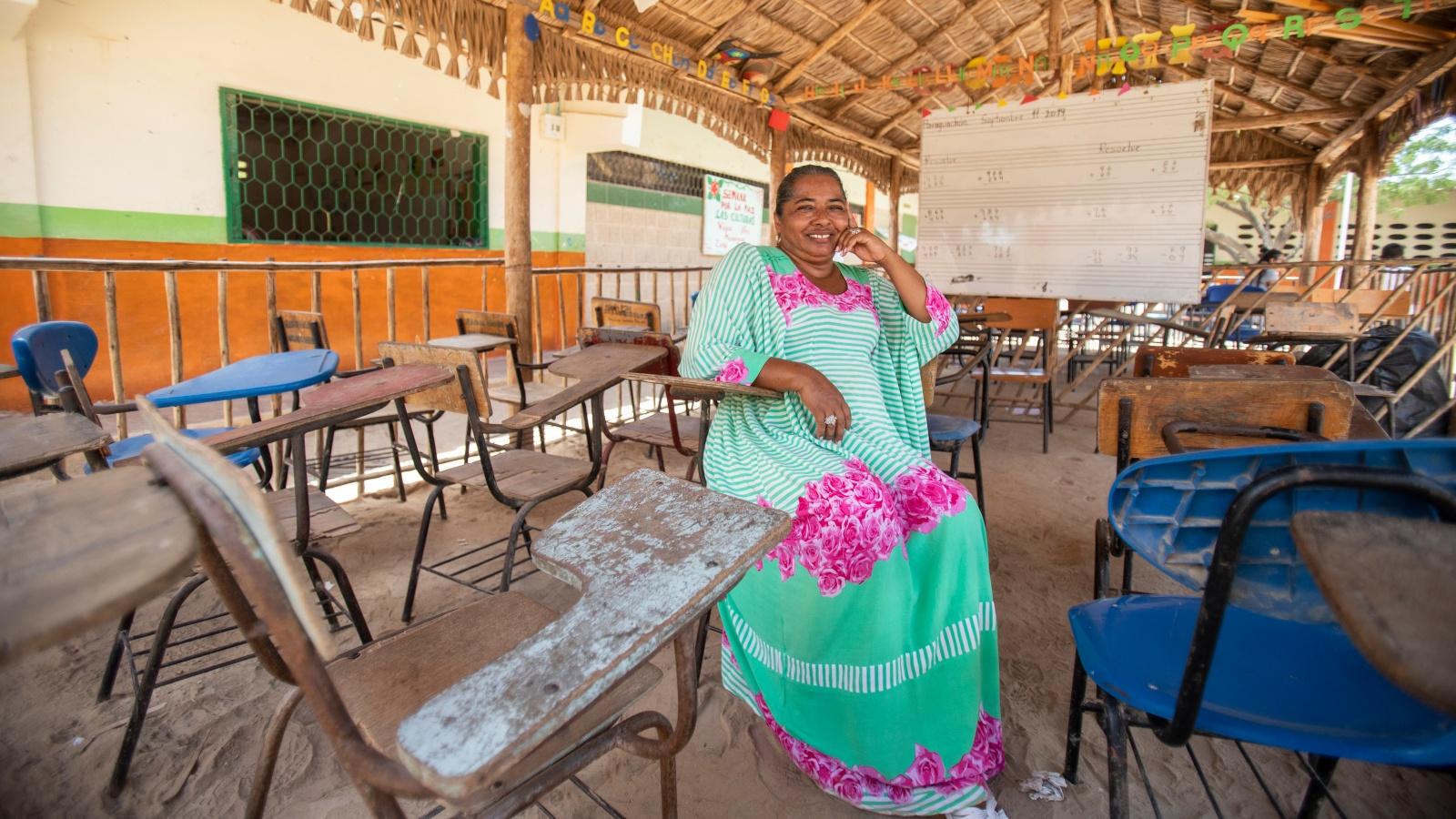 Así lucha una maestra para que los niños venezolanos estudien en una comunidad wayuu