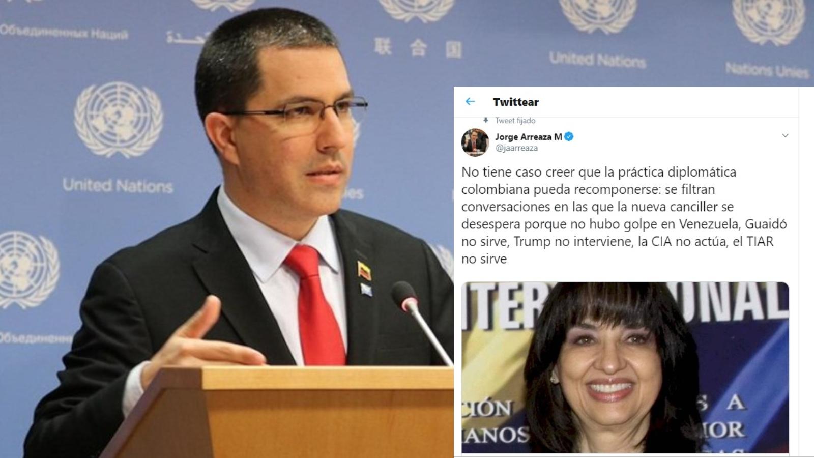 Esto dijo el canciller de Venezuela, Jorge Arreaza, sobre el audio de Santos y Blum