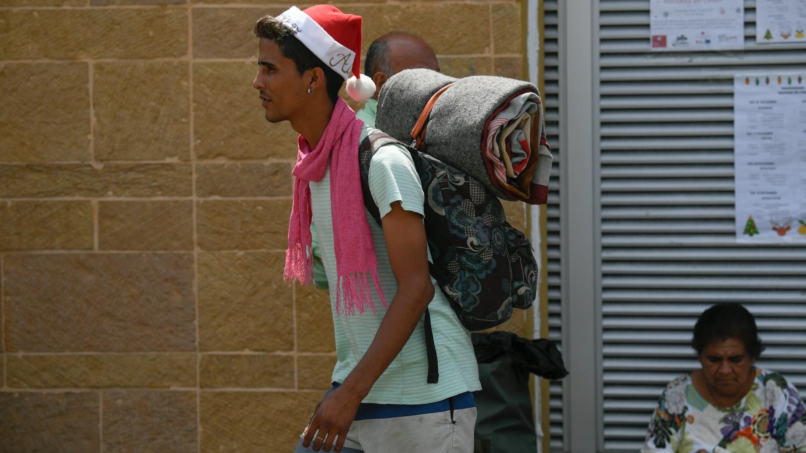 La travesía de los caminantes venezolanos para volver a su país en Navidad