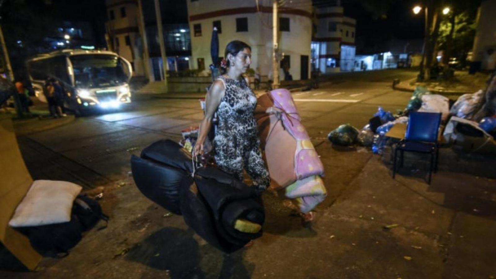 Parques dormitorio, la opción de venezolanos sin casa en Colombia