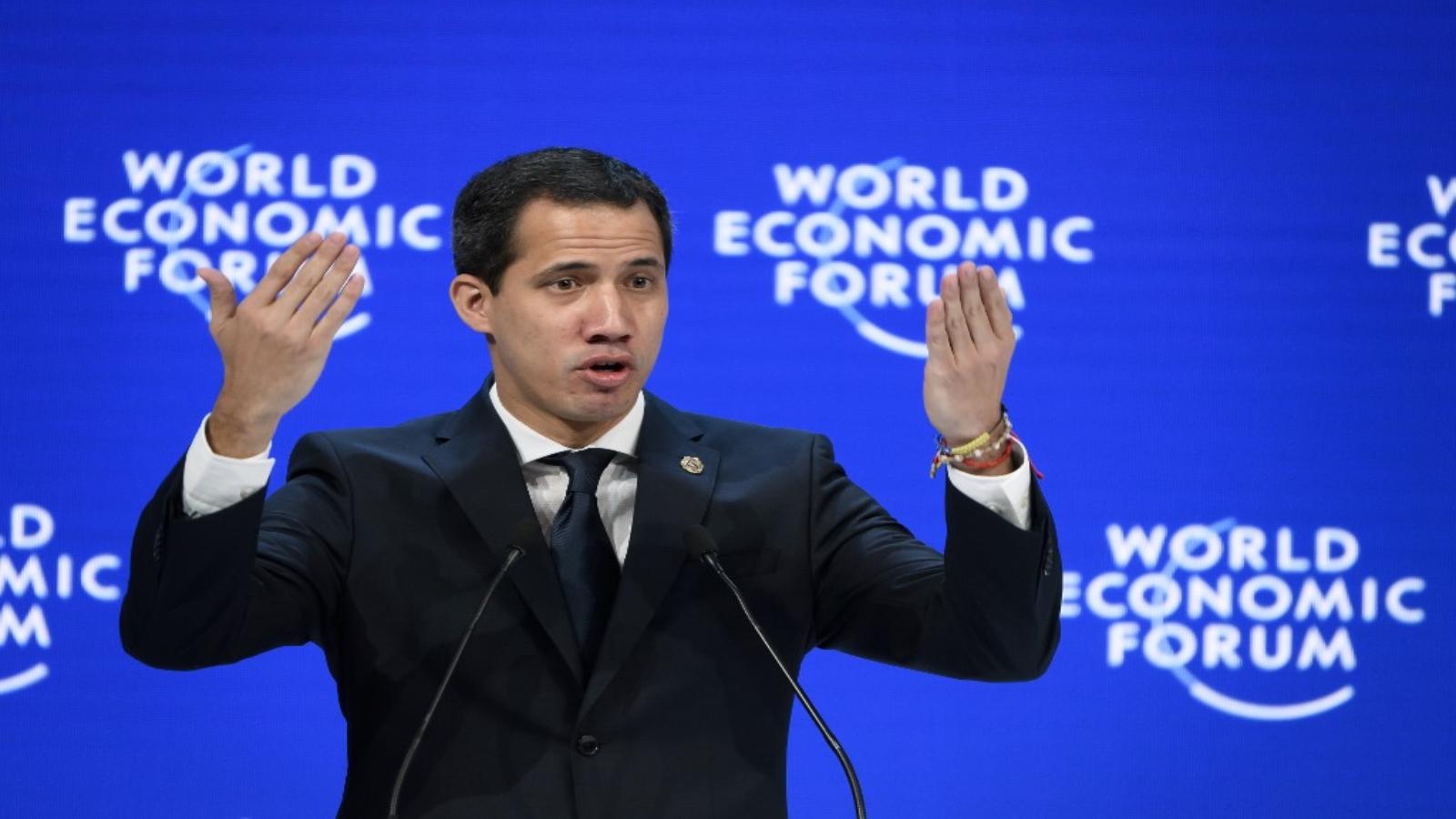 Guaidó en Davos: