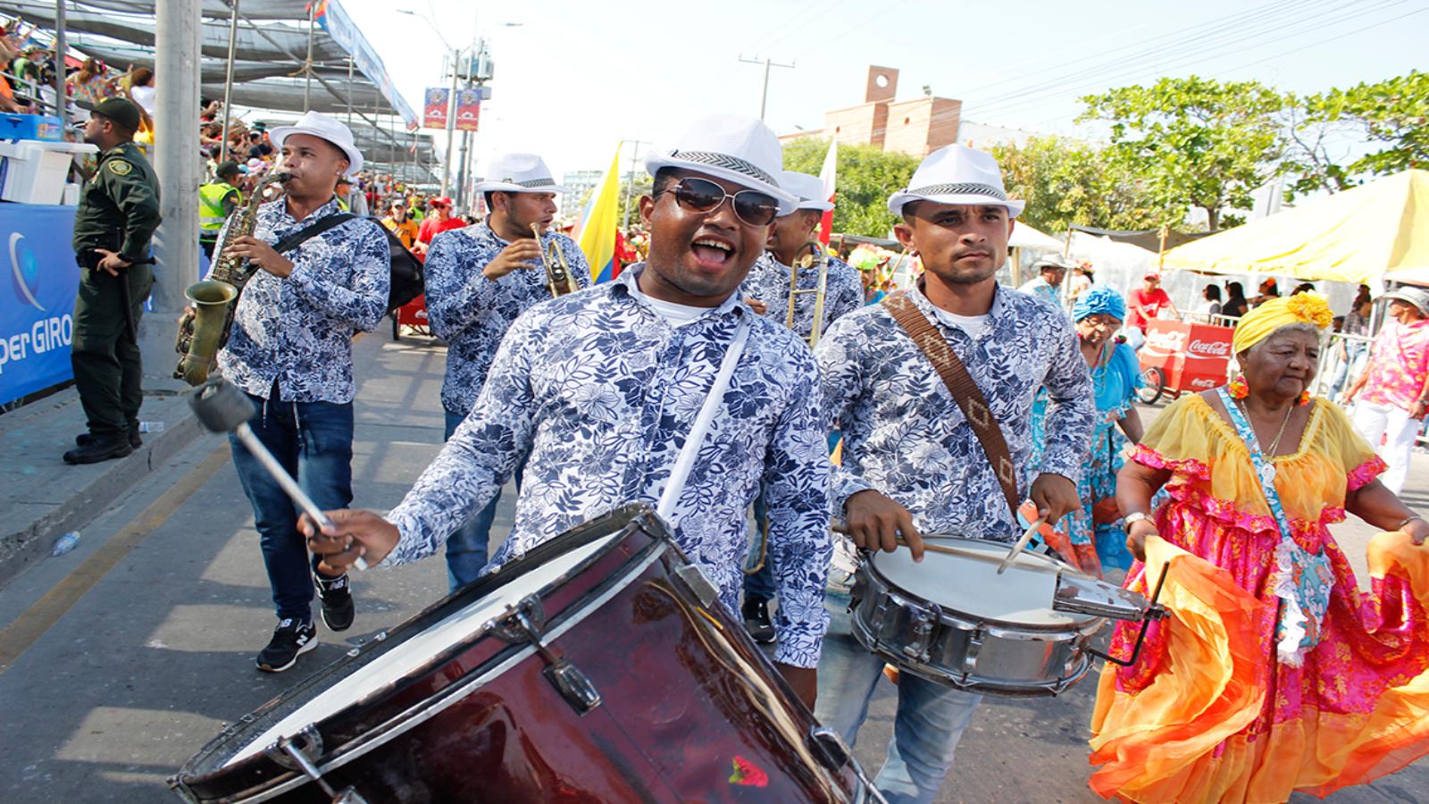 Los venezolanos que animaron el Carnaval de Barranquilla