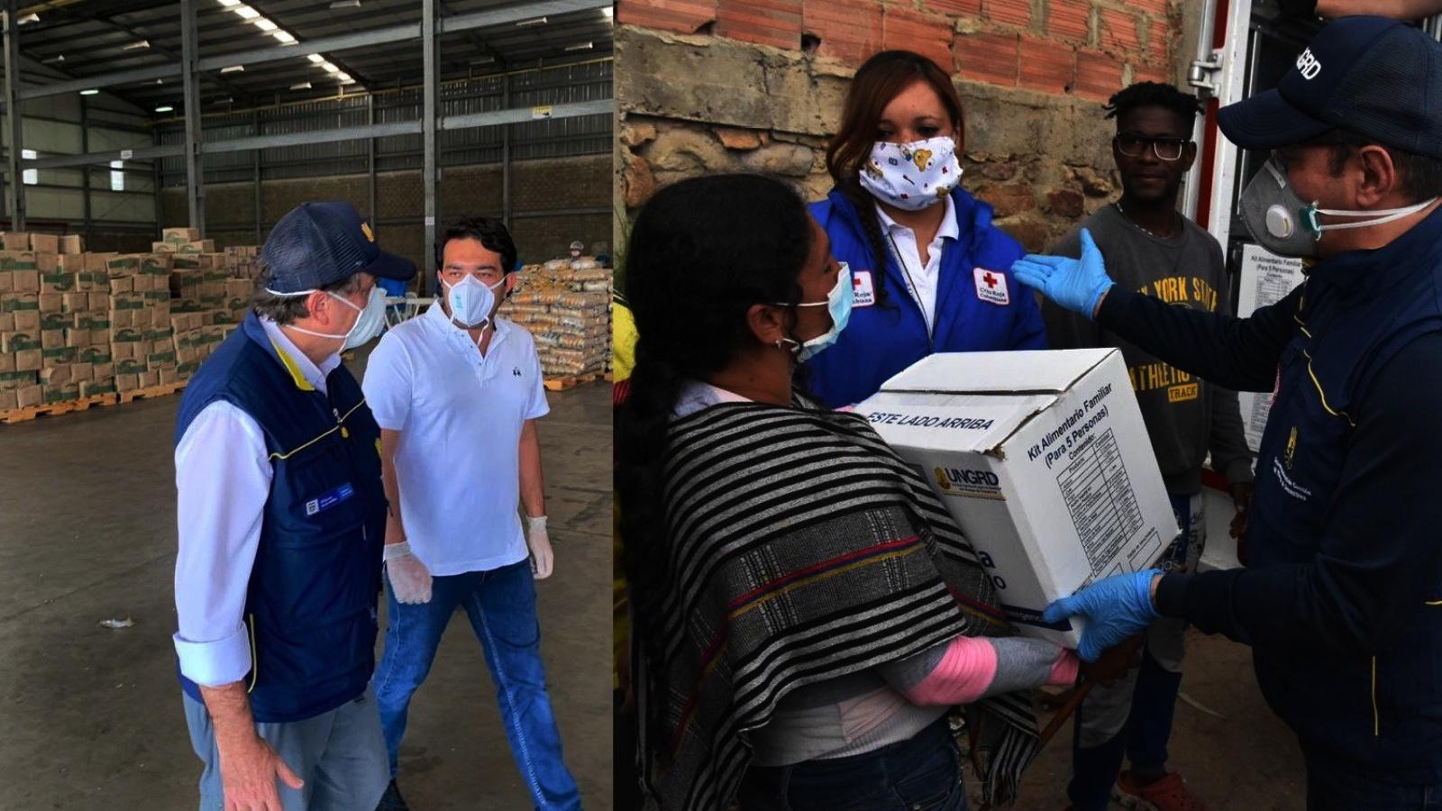 Gobierno inicia la entrega de mercados a venezolanos vulnerables