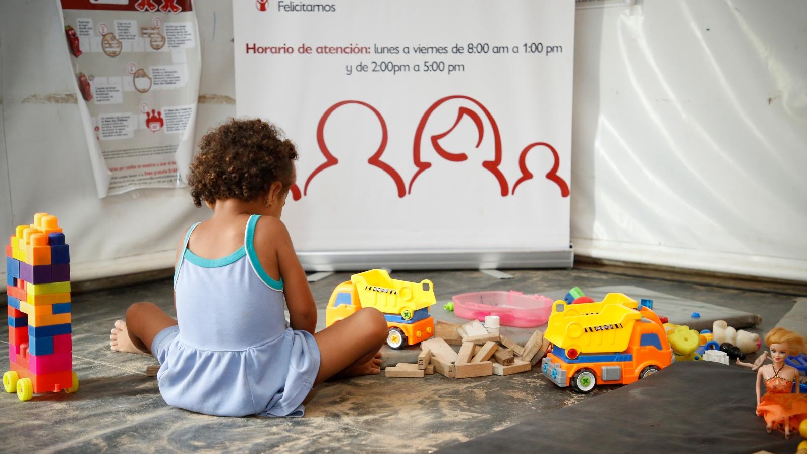 Primer día del niño para los nuevos colombianos