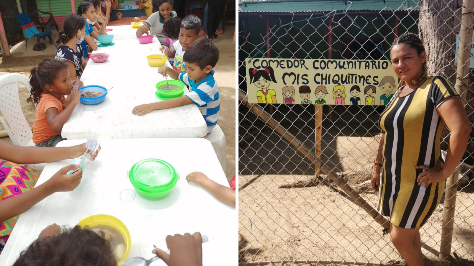 Colombiana retornada abrió comedor en Arauca para alimentar a 200 niños al día