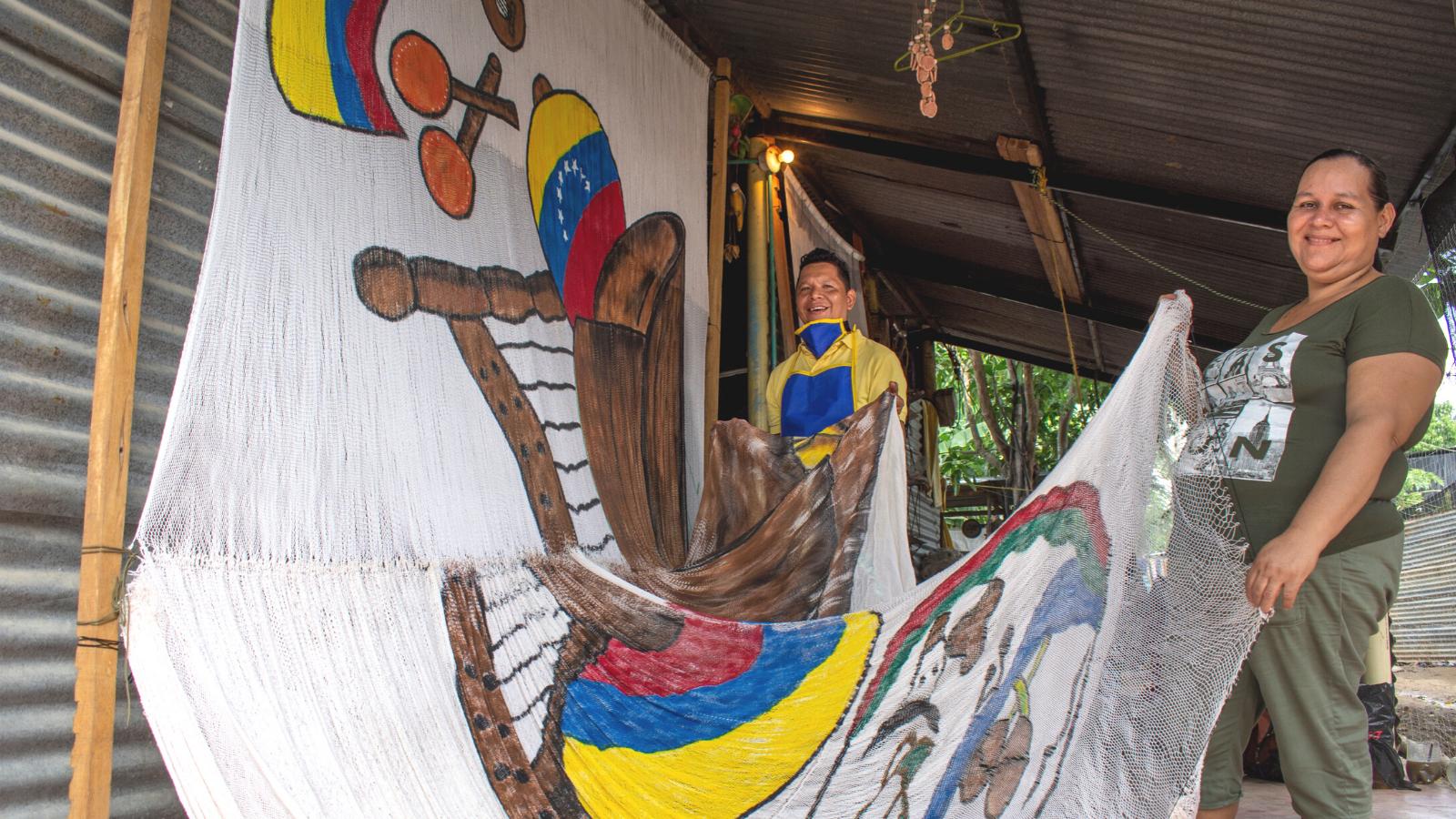 Para hablar de reconciliación, 100 familias tejieron chinchorro gigante en Arauca
