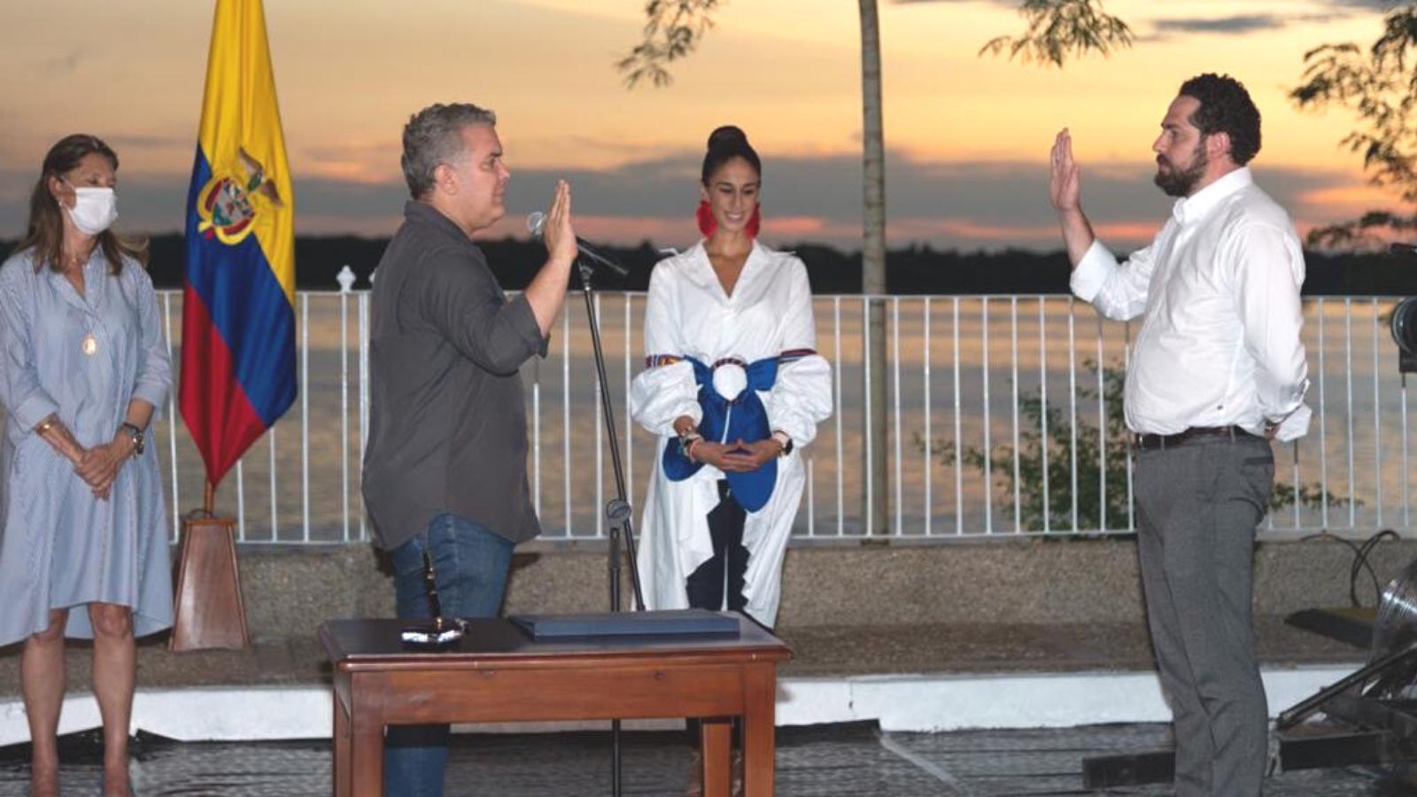 Presidente posesionó a Lucas Gómez como Gerente de Fronteras