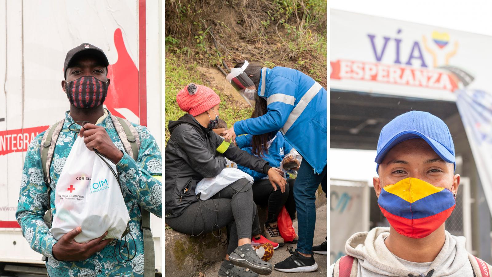 La esperanza de los caminantes en la vía Bogotá - Girardot