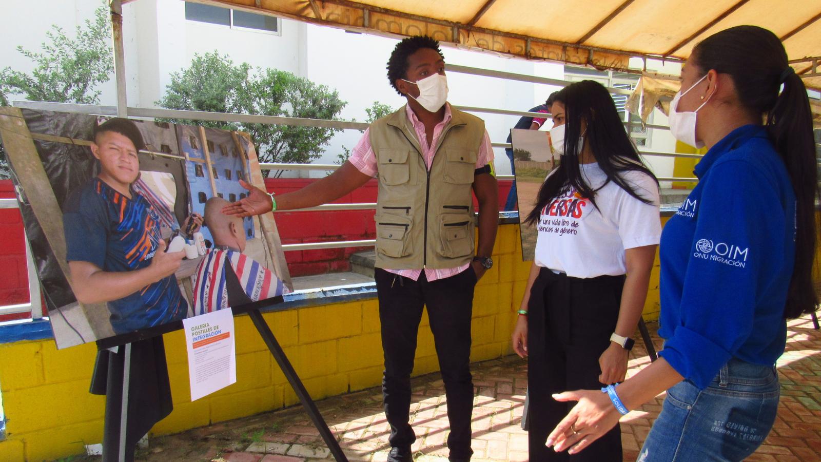 En Riohacha exhibieron 10 postales de la integración