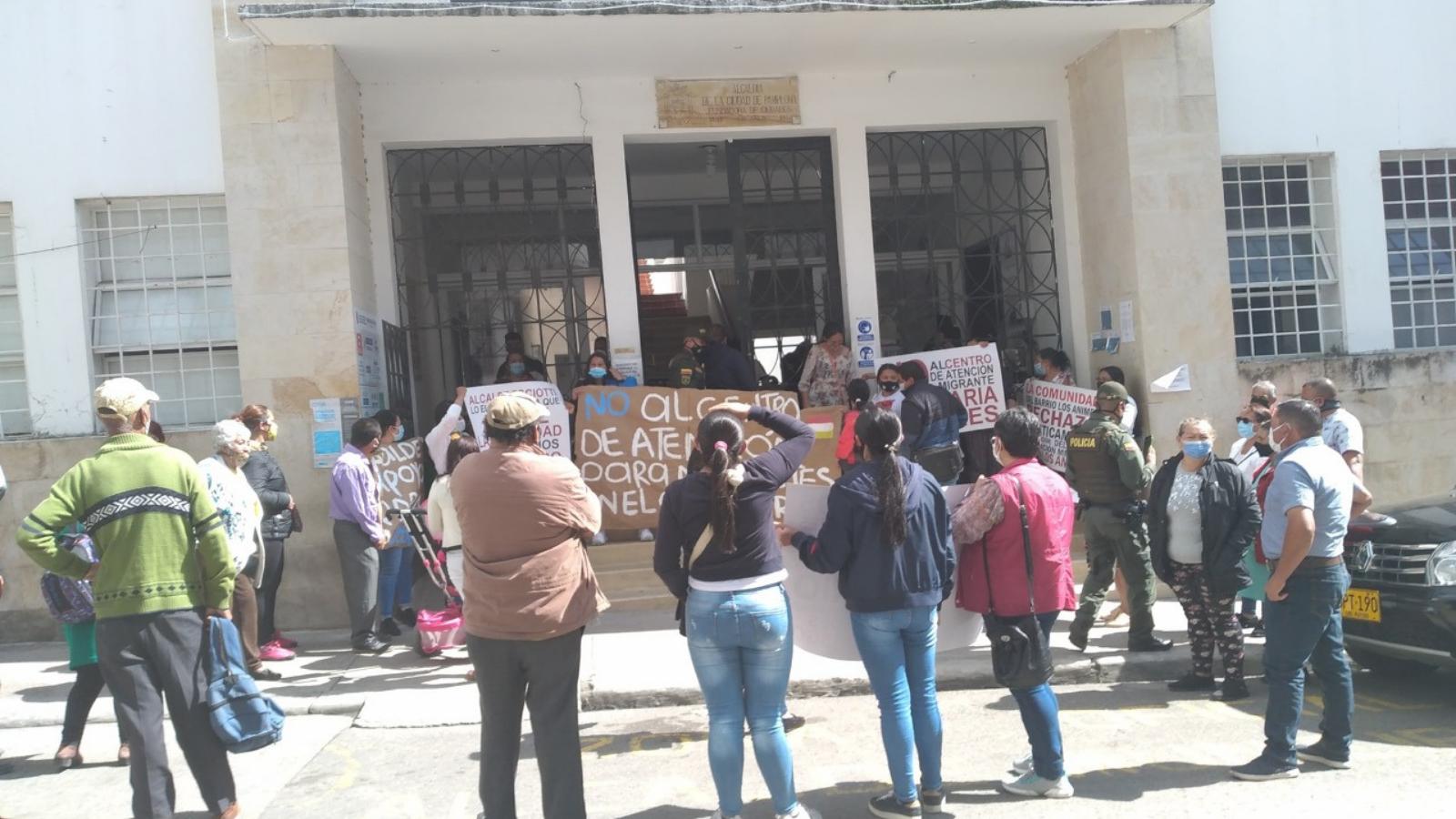 Nuevas manifestaciones contra Centro de Atención para migrantes en Pamplona