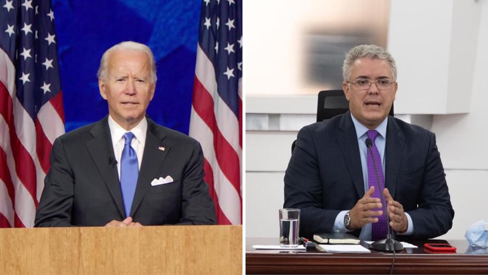 Esto fue lo que Joe Biden le dijo al presidente Duque sobre los migrantes