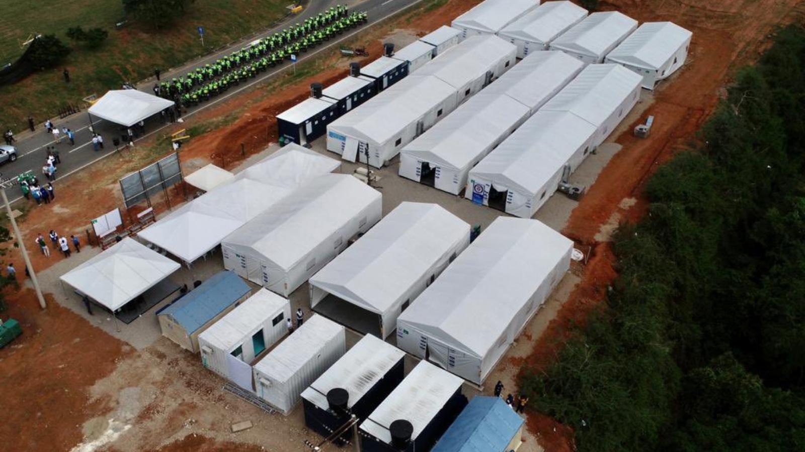 EN FOTOS | Así es el nuevo centro transitorio de migrantes en la frontera