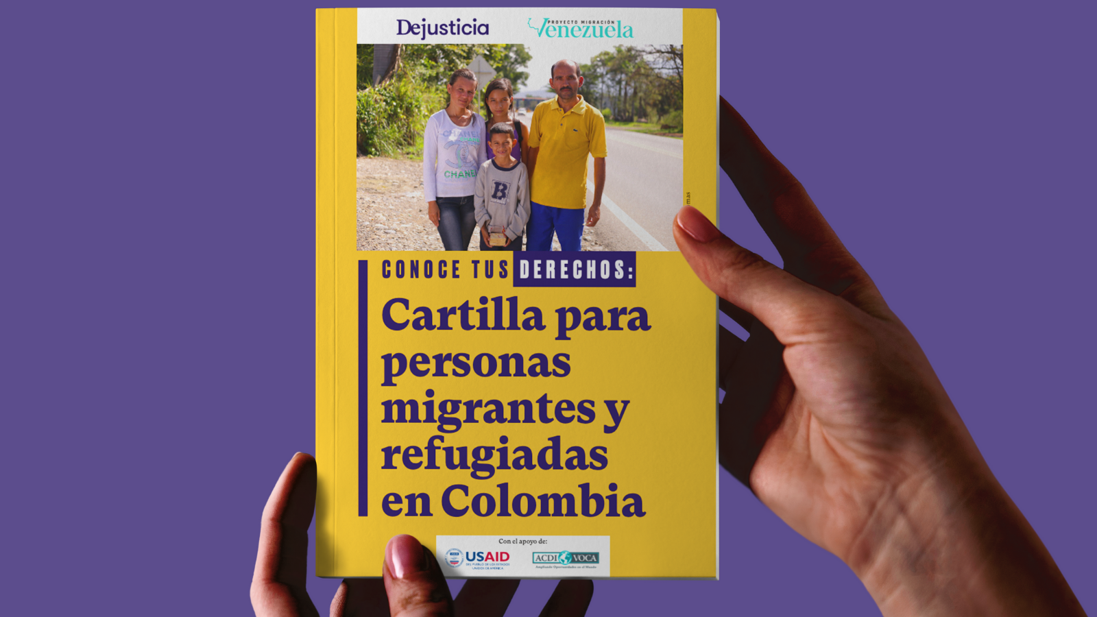 Lanzamos cartilla sobre derechos de las personas migrantes y refugiadas