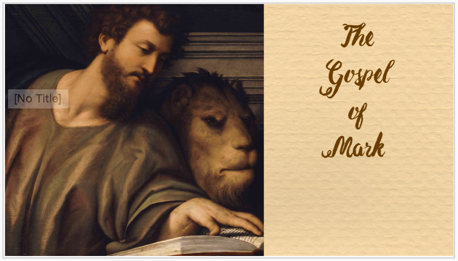 New Testament Lesson 34 - Mark 1 PowerPoint