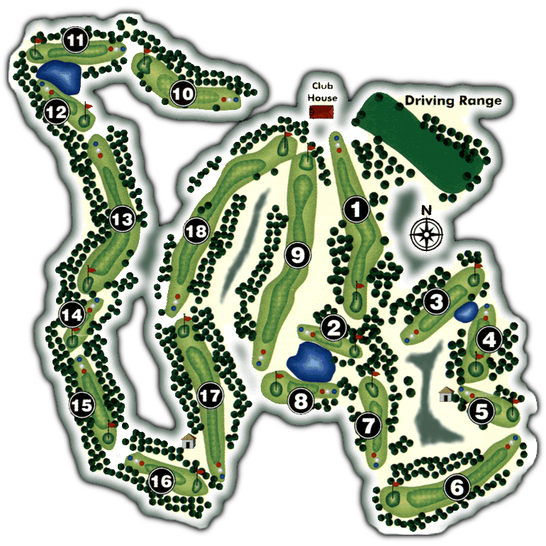 Pinetop Lakes Golf Course Map