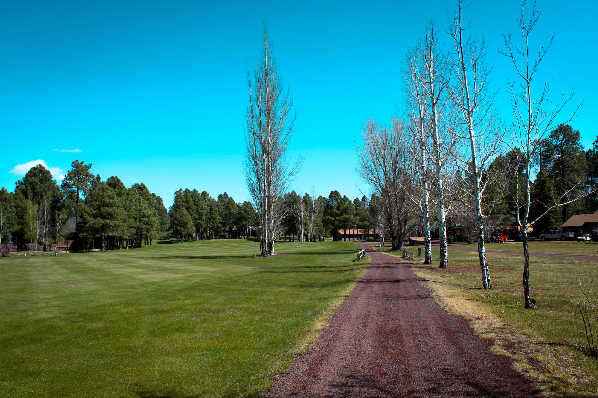 path to club house from 9 tee