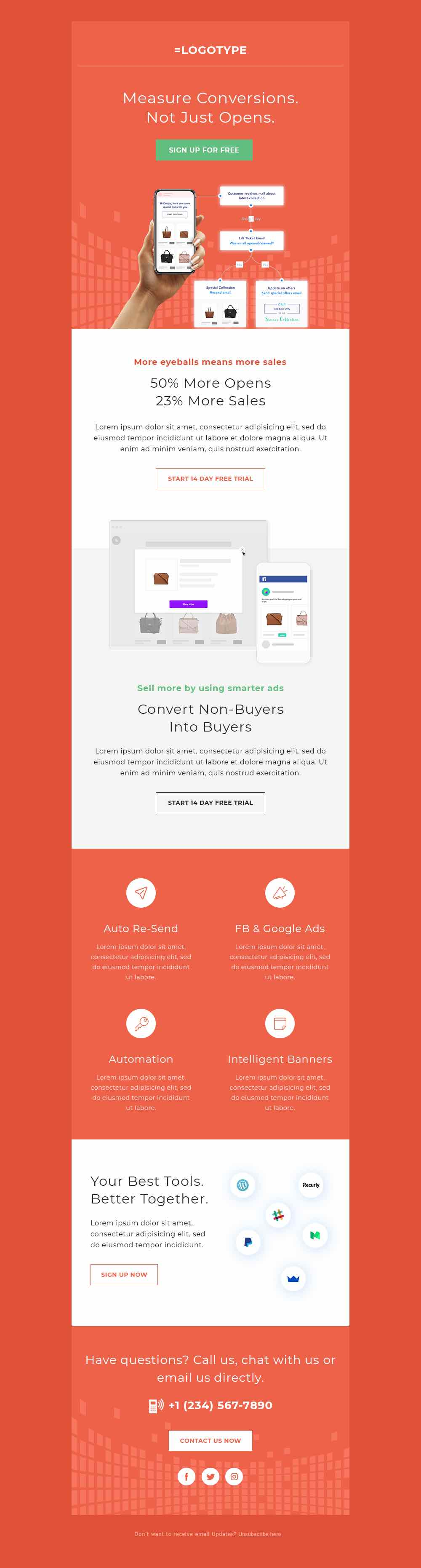20 Free Html Email Templates Sendx