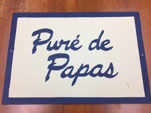 The Puré de Papas sign from Amnesia