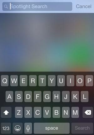 spotlight search for iOS 8