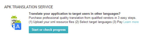 Google translation services