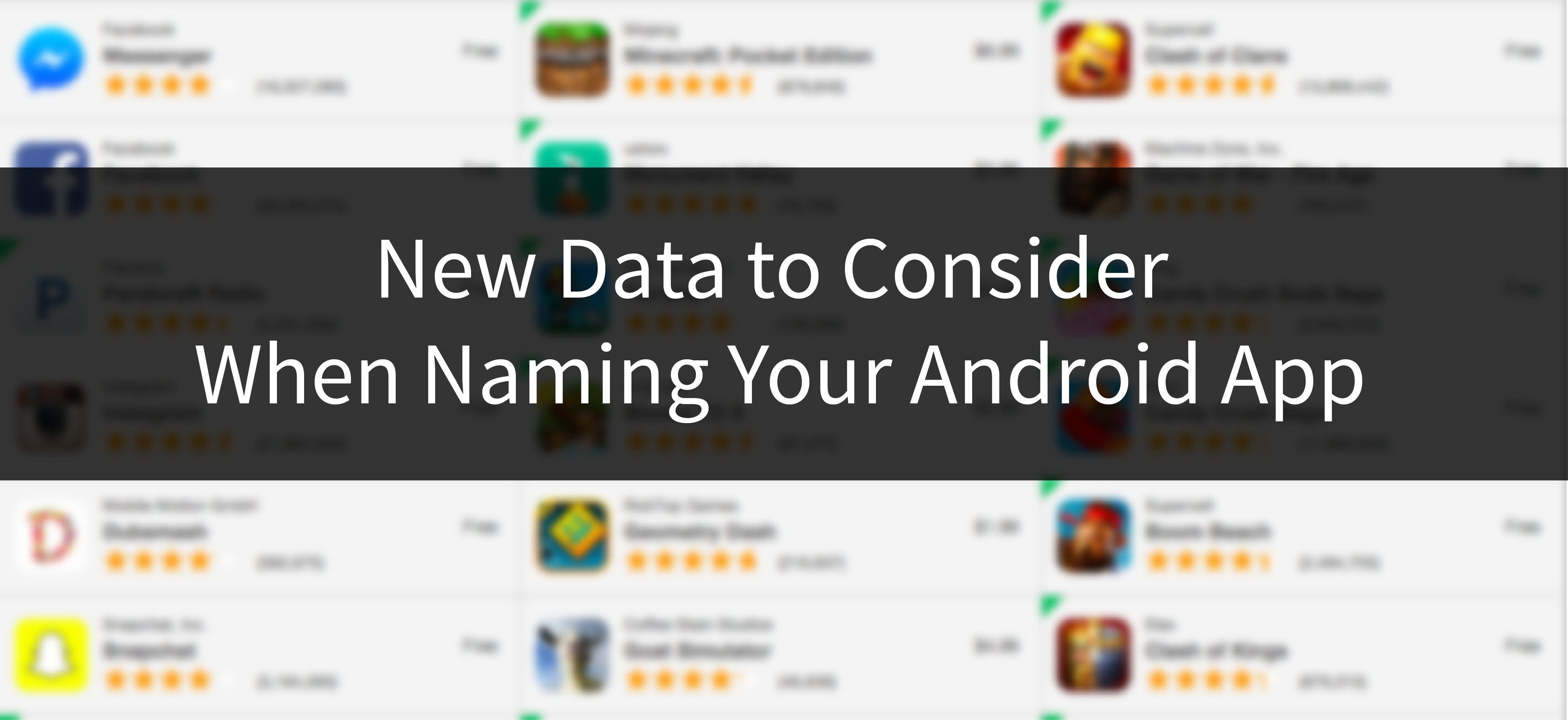 New Data to Consider When Naming Your Android App