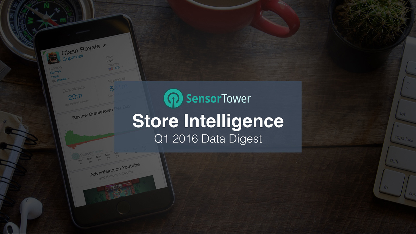 Cover of Sensor Tower's Q1 2016 Data Digest