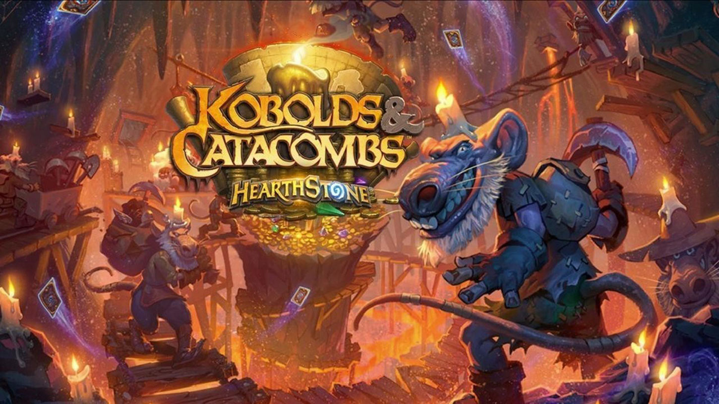 Logo for Hearthstone's Kobolds and Catacombs expansion
