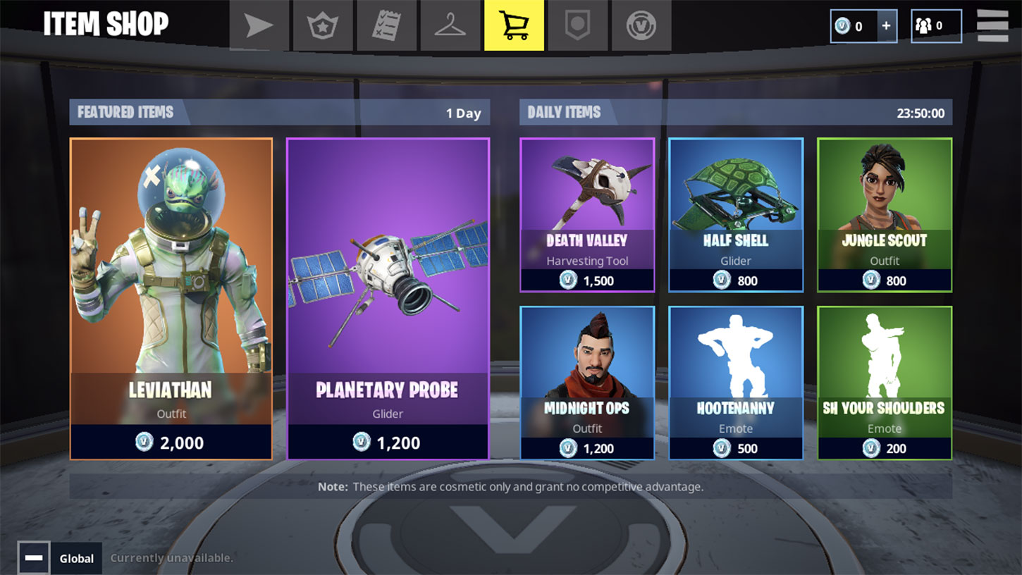 Fortnite shop screenshot  - fortnite shop - Fortnite Made Five Times PUBG Mobile's First Week Revenue on iOS