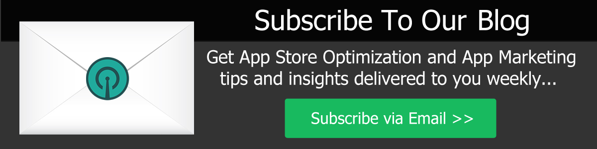 Subcribe to the App Store Optimization Blog