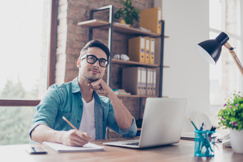 writer at desk