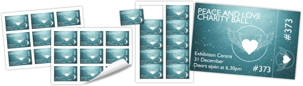 Creating and printing numbered event tickets (PagePlus ...