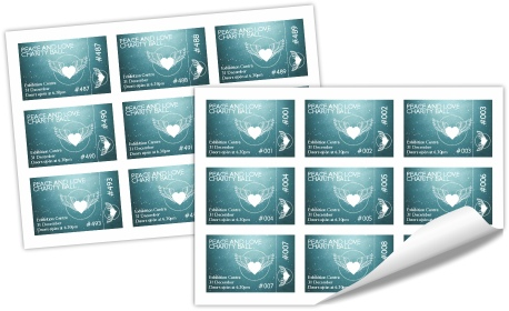 Creating and printing numbered event tickets PagePlus – Printable Ticket Paper