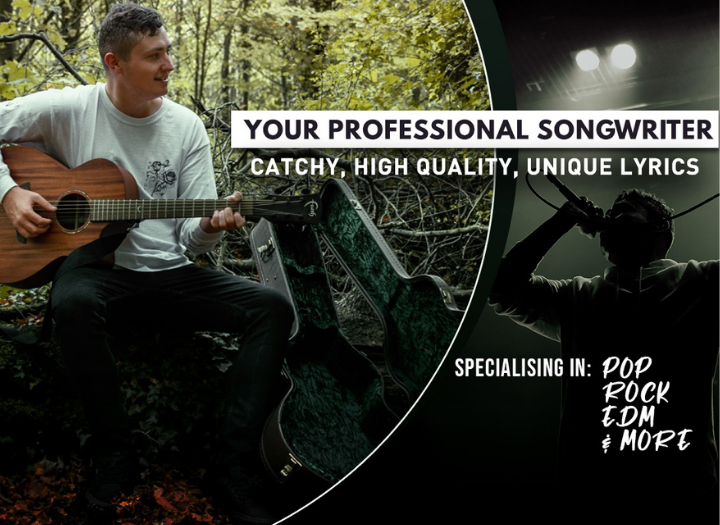 Full singer songwriter package (catchy original lyrics, melodies & pro male vocals)