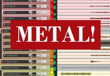 I'll mix and master your Metal/Rock song
