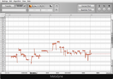MANUAL TUNING USING MELODYNE FOR ONE VOCAL TRACK.