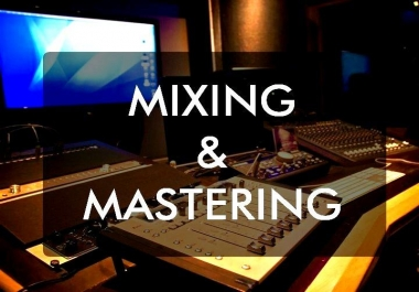 MIX AND MASTER YOUR TRACK TO ITS FULLEST POTENTIAL!