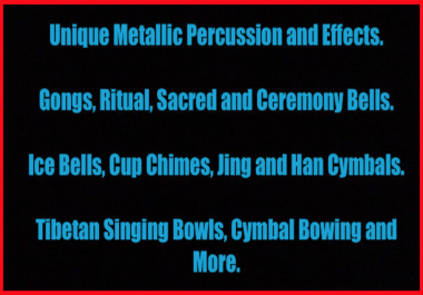 Metallic Percussion. Ritual, Ceremonial Bells, Gongs and More