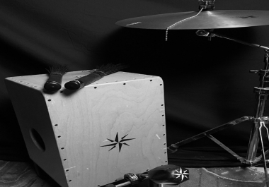Expanded Acoustic Percussion-Cajon and light cymbals with percussion overdubs