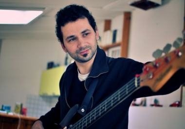 Double bass lines by a pro musician w 15 years live shows experiences in different styles (Jazz, swing, balkan, funk, hip-hop, songwriting )