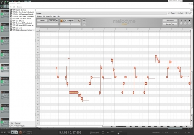 Vocal tuning with Melodyne software