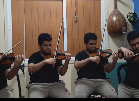 Record multi tracks of violins and violas for any music style (classical,arabic,turkish,oriental,rock,.....)
