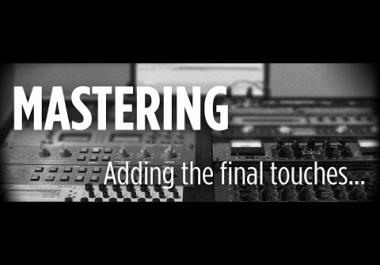 MASTERING YOUR TRACK IN MY STUDIO