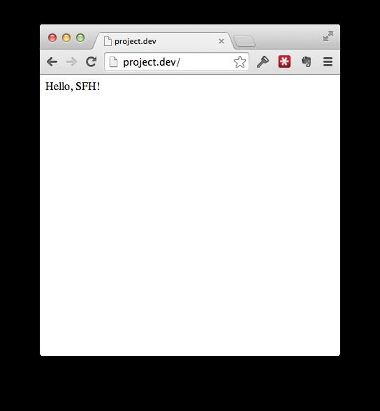 project.dev after hosts file
