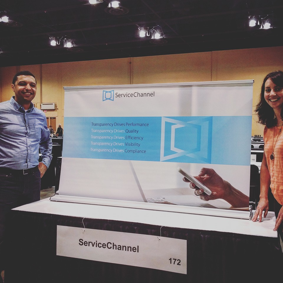 ServiceChannel's Bashir Abdallah and Juliette Dickens at 2016 PRSM Mid-Year Conference