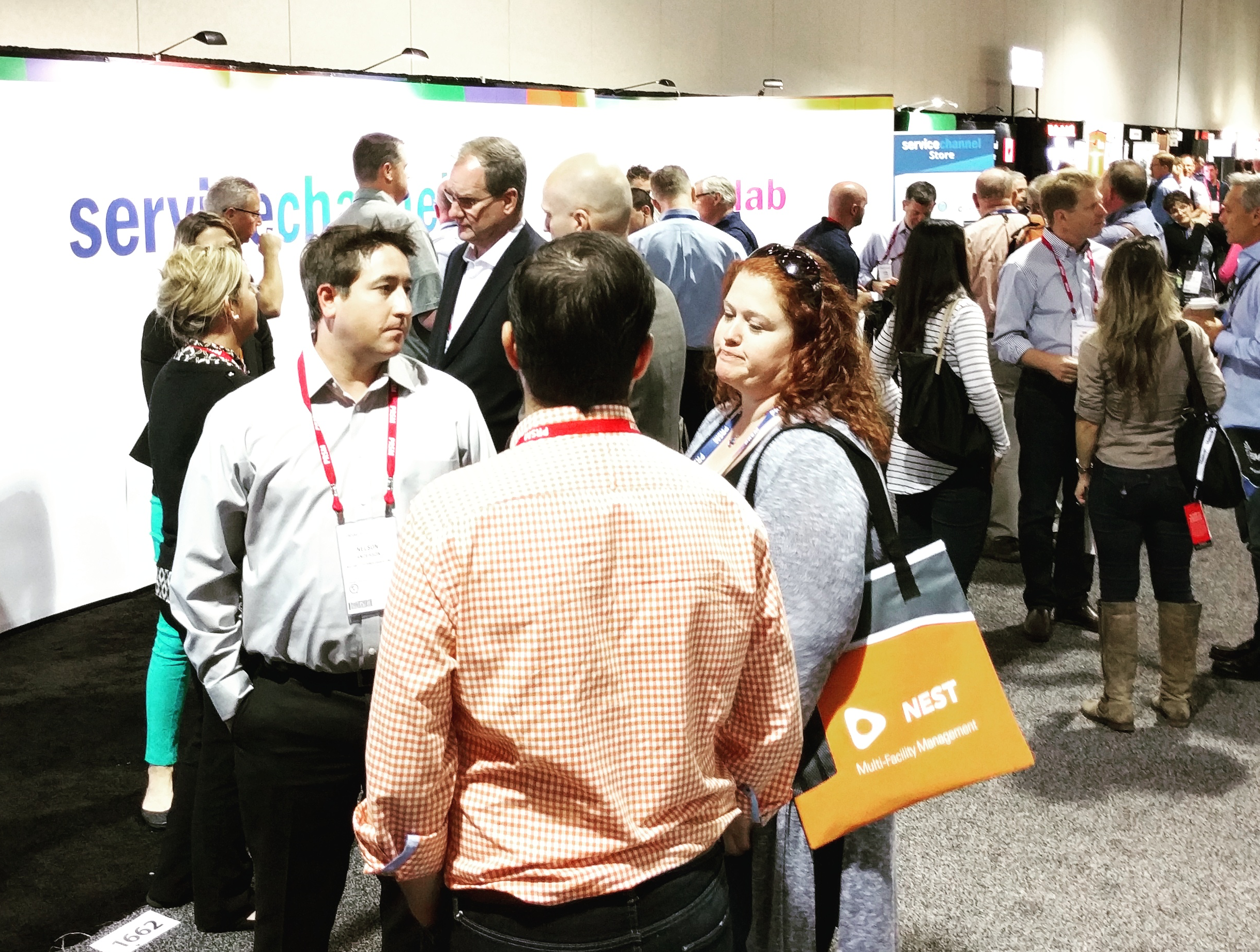 Busy in front of the ServiceChannel Booth at PRSM 2016