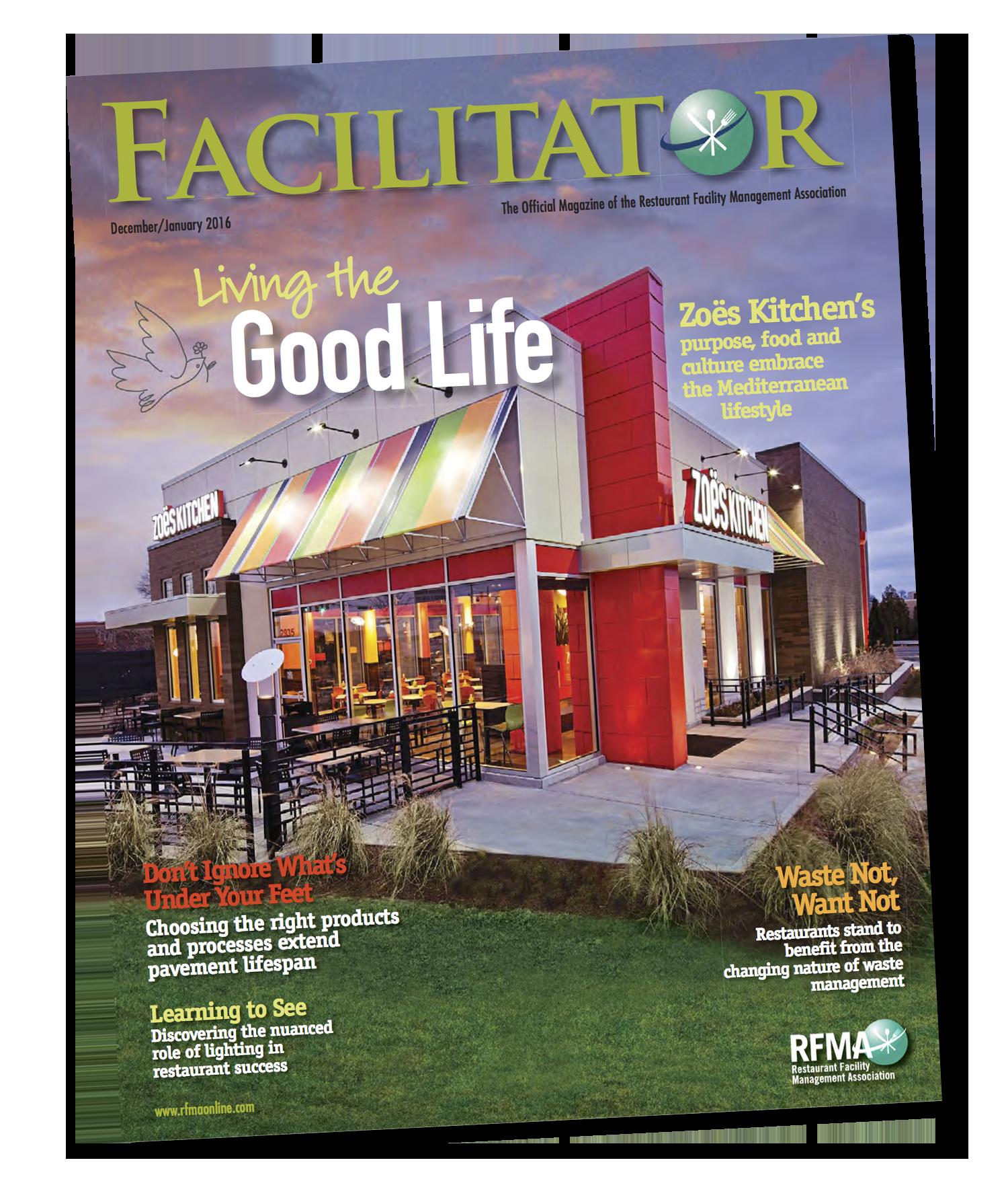 Facilitator Magazine - Jan, 2016 - Zoe's Kitchen