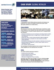 ServiceChannel Case Study - Global Retailer